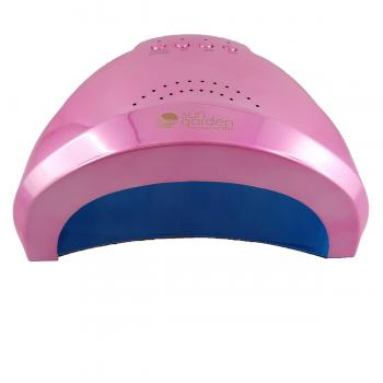 UV LED lamp Sun1 Pink Metallic 48 W for gel, gel lacquer with sensor and timer, light curing device for nail design