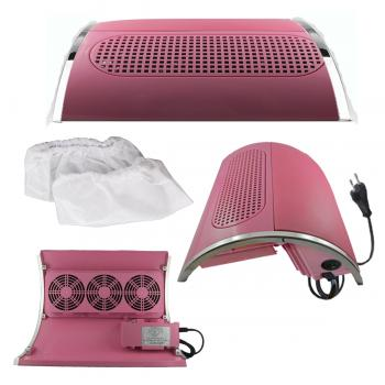 Nail Dust Suction Collector SM 858-5 Pink with three fans